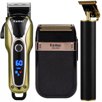 Professional Hair Clipper Men Electric Beard Trimmer T-Blade 0mm Hair Cutting Machine Rechargeable Shaver Cordless Barber Cutter kemei titanium blade professional hair trimmer rechargeable electric hair clipper barber cutting machine shaver razor