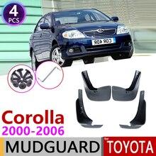 Dla Toyota Corolla E120 E130 2000 ~ 2006 błotnik błotnik błotnik Mud klapy Guard Splash klapy akcesoria 2001 2002 2003 2004 2005