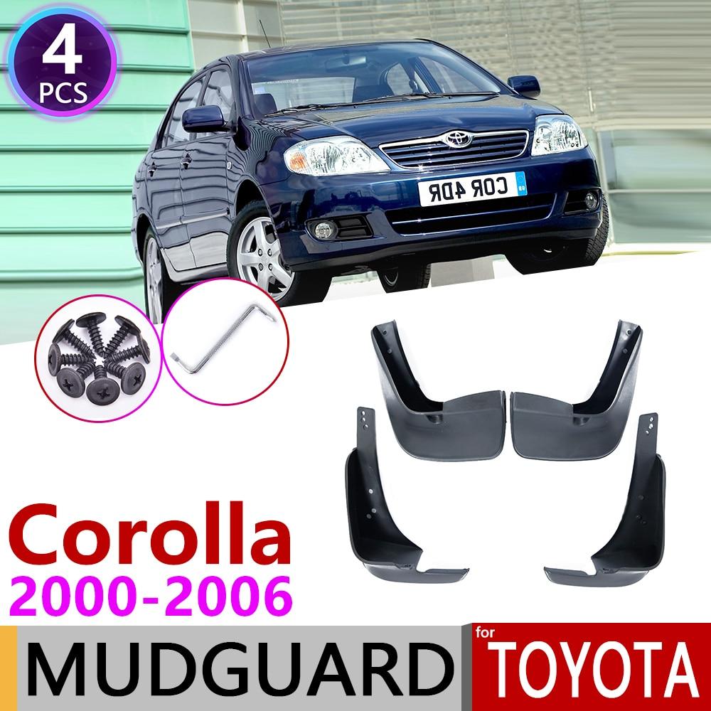 for Toyota Corolla E120 E130 2000 2006 Mudflap Fender Mudguard Mud Flaps Guard Splash Flap Accessories 2001 2002 2003 2004 2005