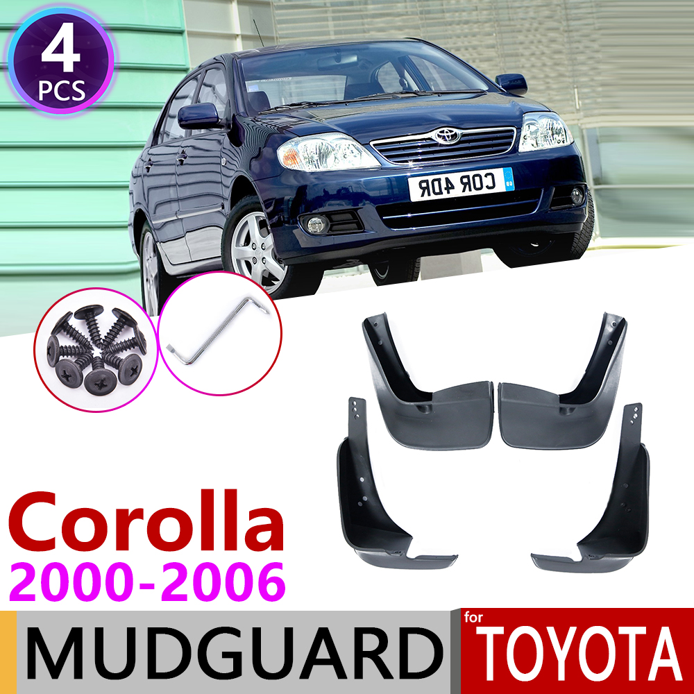 for <font><b>Toyota</b></font> <font><b>Corolla</b></font> E120 E130 2000~2006 Mudflap Fender Mudguard Mud Flaps Guard Splash Flap Accessories 2001 2002 2003 2004 <font><b>2005</b></font> image