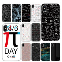 Maths Formula Digits Pi Silicone Phone Cases for iPhone 5 5S SE 6 6s 7 8 Plus X XS Max XR Back Cover(China)