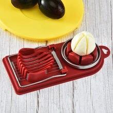Fio de aço inoxidável ovo slicer cozinha cortador de fatiadores de ovo multiuso fios de aço inoxidável forma pétala ovo cutte