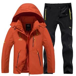 Image 5 - חדש עבה חם סקי חליפת נשים עמיד למים Windproof סקי וסנובורד מכנסיים מעיל סט נשי שלג תחפושות חיצוני ללבוש