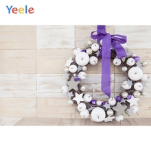 Yeele Wood Photocall Retro Texture Wreath Apple Ins Photography Backdrops Personalized Photographic Backgrounds For Photo Studio