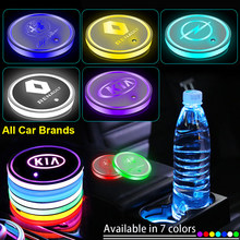 1pcs Led COCHE insignia luz luminosa montaña titular de bebidas para Citroen C1 C2 C3 C4 C5 C6 C8 C4L DS3 DS4 DS5 DS5LS DS6 coche productos