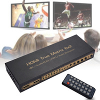 6 in 2 Out HDMI Matrix Splitter Support HD 4K x 2K 3D Audio Video Converter with Remote Control Hi 888