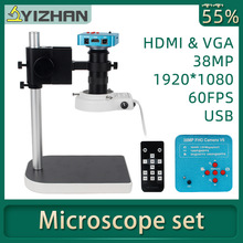 Digital Microscope Led-Ring-Light Professional-Repair Electronic HDMI 1080P VGA for 130x38mp