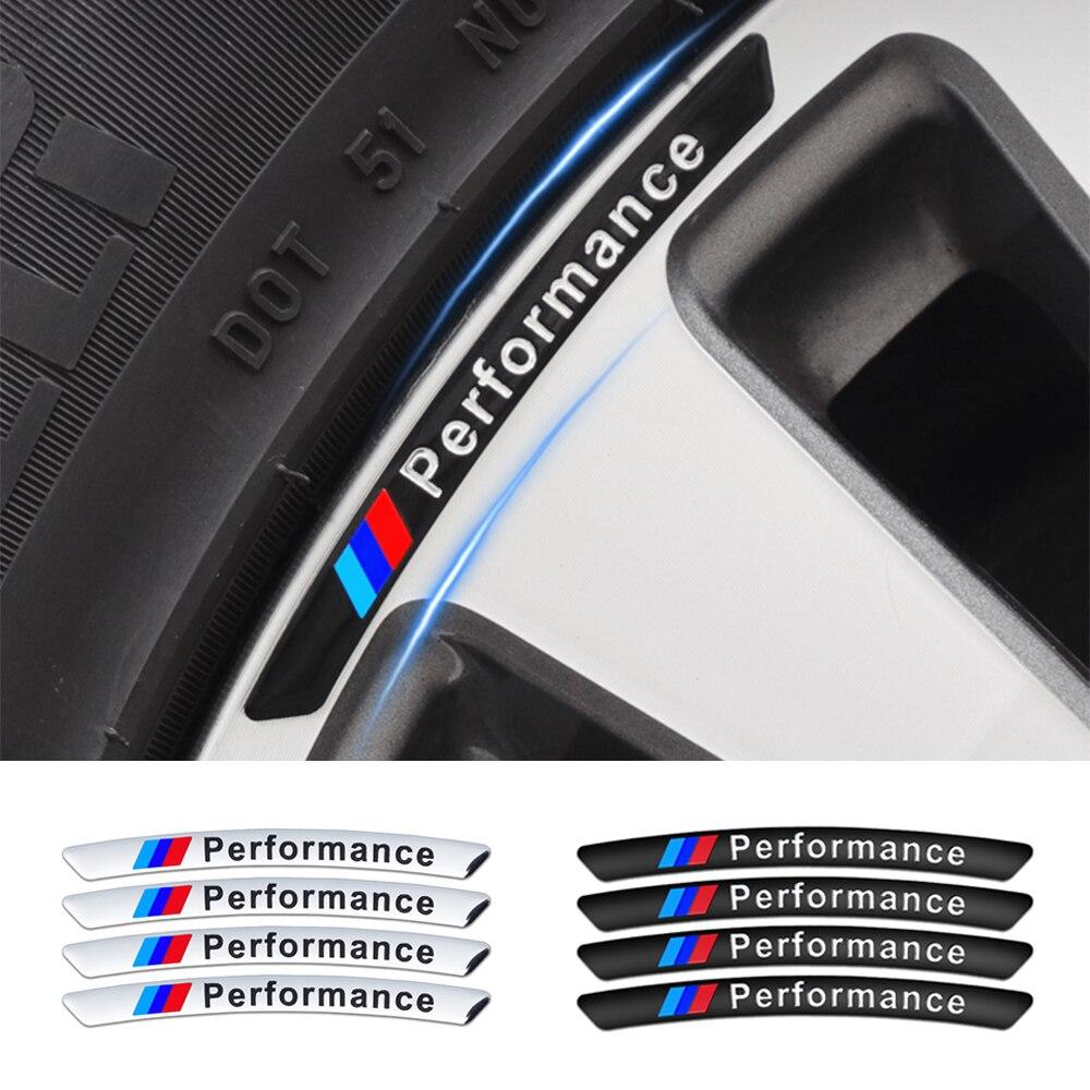 4 шт., автомобильные наклейки для BMW e46 e90 e60 e39 f10 f30 e36 f20 X1 X3 X5 и т. Д.