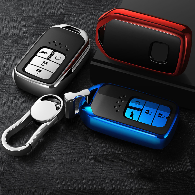 Image 5 - Hight quality TPU+ABS Car Key Cover Case for Honda Civic Accord Cr v Pilot 2015 2016 2017 2018 Buttons Remote Intelligence Key-in Key Case for Car from Automobiles & Motorcycles