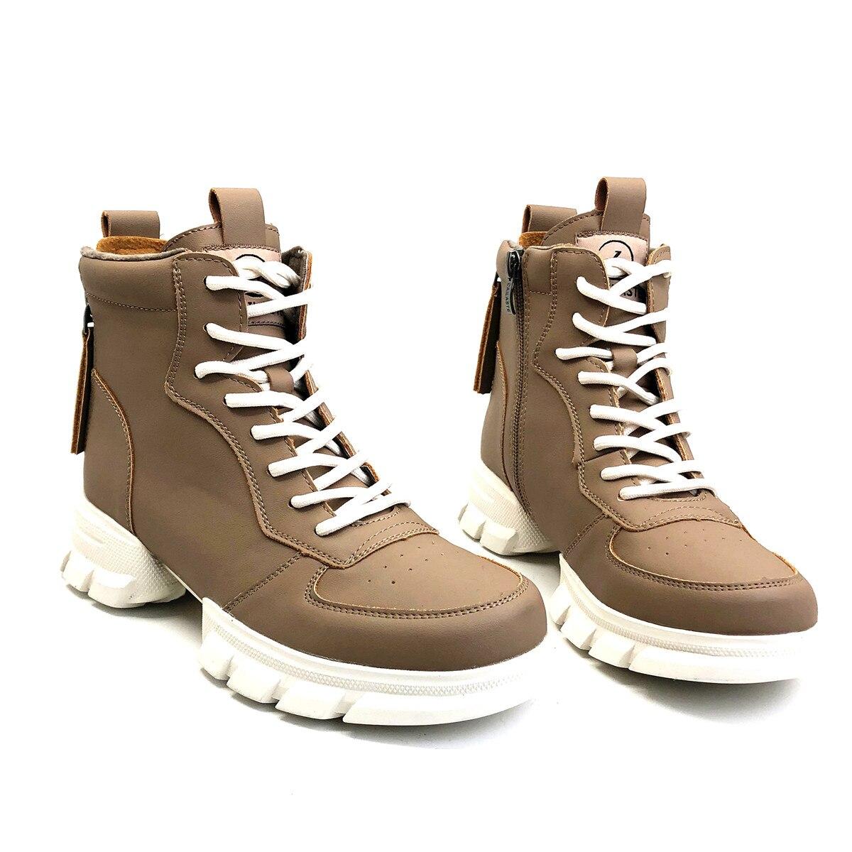 CAILASTE/женские кроссовки; ботинки со шнуровкой на молнии; ботинки шнурки для отдыха; обувь на платформе с бархатной стелькой; спортивные женск... - 6