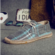 NEW Male nationa style Breathable Lace up casual Canvas Hemp Insole Fisherman Li