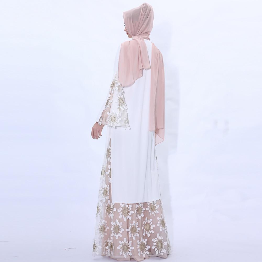 2020 Indonesia Chiffon Hijab Bangladesh Fake Two Pieces Dress Dubai Abaya Clearance Pakistan Muslim Dress Islamic