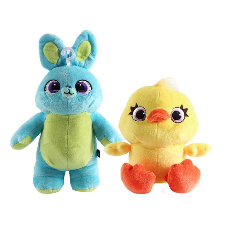 20/34cm Toy Story 4 Plush Toys Bunny & Ducky Woody & Buzz Lightyear Doll Soft Stuffed Animal Plush For Kids Birthday Xmas Gifts