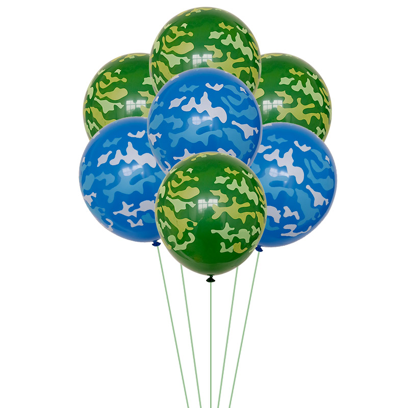 Camouflage Air Force Theme Decoration Army Latex Balloons Fighter Aircraft Foil Ballon Boy Girl Soldier Birthday Party Supplies-1