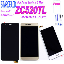 For Asus Zenfone 3 Max ZC520TL X008D LCD Display Touch Screen Digitizer Assembly Repair Part Replacement with Tempered Glass недорго, оригинальная цена