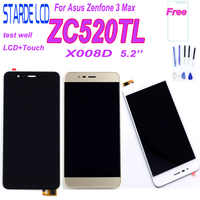 For Asus Zenfone 3 Max ZC520TL X008D LCD Display Touch Screen Digitizer Assembly Repair Part Replacement with Tempered Glass