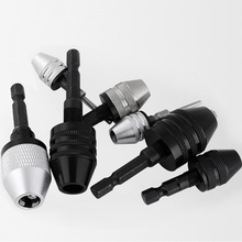 Chuck-Fixture Clamp Shaft-Chuck Drill-Bits-Adapter Electric-Motor-Shaft Mini Keyless