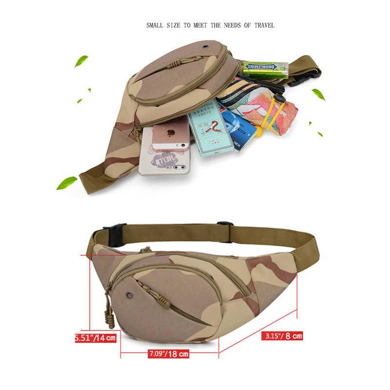 Riñonera para hombre, riñonera, bolsa de camuflaje para correr, ciclismo, deporte al aire libre, Unisex, bolsa para el trasero, bolsa para el saco banane saszetka na biodra