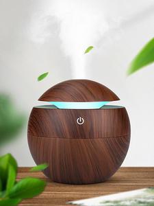 Essential-Oil-Diffuser Air-Purifier Ultrasonic-Mist-Humidifier Led-Night-Light 130ml