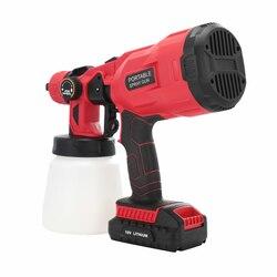 PISTOLA DE PULVERIZACIÓN eléctrica de 800ml, pulverizador de pintura para el hogar, pistola de alta presión, Control de flujo de aire, aerógrafo eléctrico inalámbrico de fácil pulverización