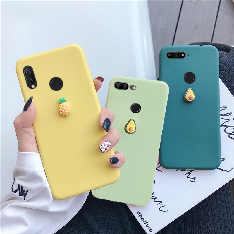 3D cute fruit <font><b>silicone</b></font> <font><b>case</b></font> on for <font><b>huawei</b></font> y9 y7 <font><b>y6</b></font> y5 prime pro 2019 <font><b>2018</b></font> candy color soft tpu back cover capa coque fundas image