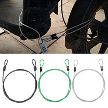 2Pcs Multi-use Security Loop Bicycle Cable Lock Stee Core Scooter U-Lock 100cm