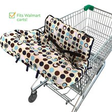 Hot Multifunctional Baby Shopping Trolley Cover Fold Pattern Shopping Cart Pad Soft Comfortable Safety Cushion for Baby Toddler(China)