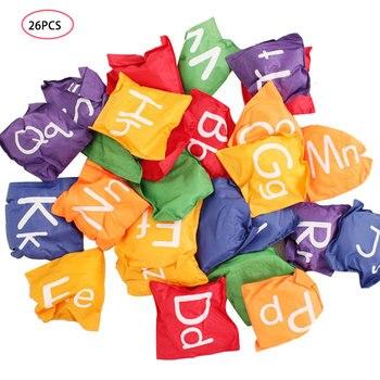 Kindergarten Children Teaching English Alphabet Sandbag Square Throwing Sandbag Game Throw Sandbag 12cm26 English Letters A Set