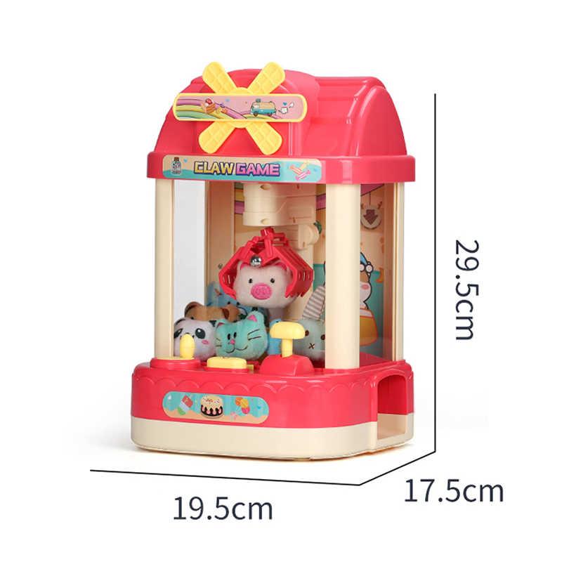 Bebek Mini atari makinesi jetonlu şeker kapmak otomat pençe makinesi çocuklar masaüstü yuvası oyun müzik komik saat Catcher oyuncaklar