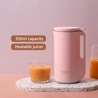 220V Multifunction Mini Soymilk Machine Automatic Electric Heating Soya Bean Milk Juicer Stir Rice Paste Maker Filter free 350ml