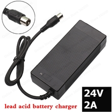 24V 2A lead-acid battery Charger electric scooter ebike charger wheelchair charger golf cart charger RCA 24v 8a charger 24v lead acid battery charger output 27 6v with fan aluminum shell smart charger