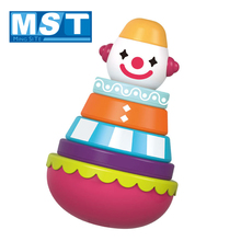 Baby Toys Cartoon Clown And Lion Toys  Rainbow Circle Stacking Tower Toys Montessori Kids Tumbler Education Jenga Toys