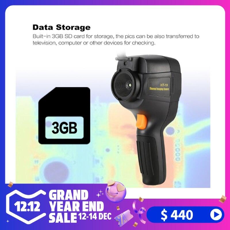 HT-19 caméra de détecteur d'imagerie thermique tenue dans la main haute résolution IR 300,000 Pixel 3.2 pouces 320X240 TFT Image infrarouge