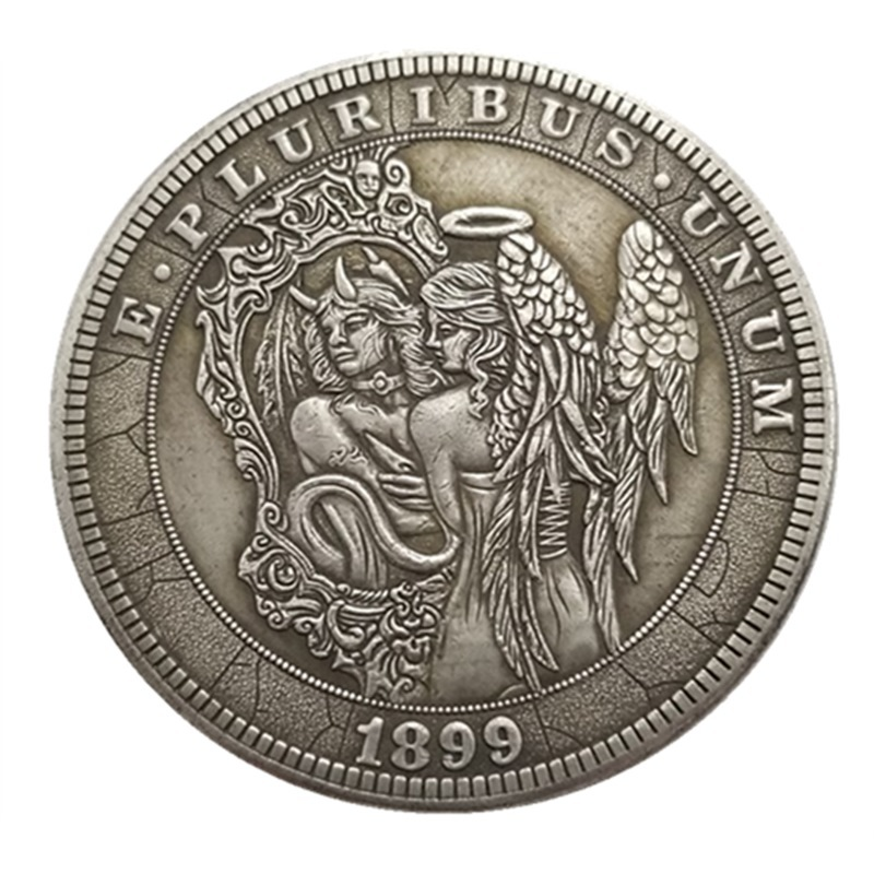 US Hobo 1899 Angel Morgan Dollar Skull Zombie Skeleton Silver Plated Copy Coins Old Coins For Collection Drop Shipping