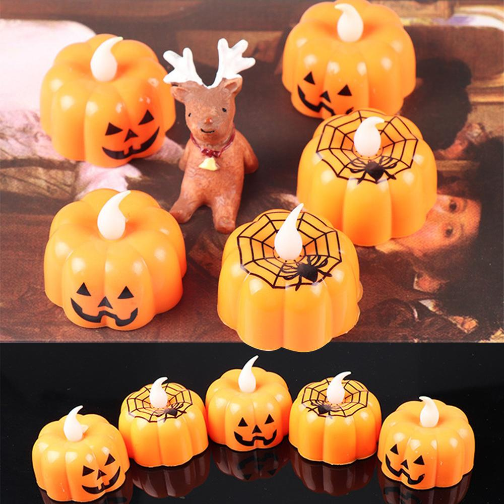 Candle Velas Birthday LED Candles Decorative Halloween Pumpkin Light Flickering Flameless Party Home yankee kaarsen kerzen 2