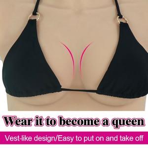 Image 2 - Roanyer artificiale del silicone forme del seno falsi C Tazza Realistico Tette finte per crossdressing transgender crossdresser maschio a fema