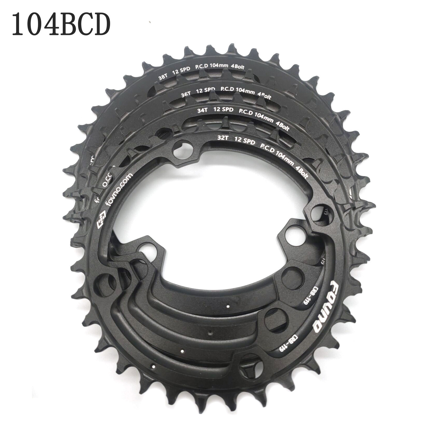 Fovno 104bcd 32/34/36/38 T Eagle Tooth Mountain MTB Bicycle Narrow Tray Wide Chainring forshimano m370 M410 M610 M615 M670 M780 image