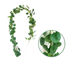 2M Artificial Eucalyptus Leaves Vine Wedding Decoration Greenery Garland Fake Plants Ivy Wall Decor Vertical Garden Home