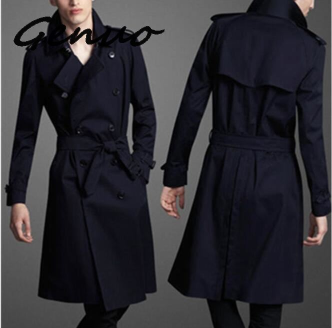 Genuo 6XL Autumn Plus Size 6xl 9xl <font><b>Men</b></font> Velvet <font><b>Trench</b></font> Turn Down Collar Loose Double Breasted X-long <font><b>8xl</b></font> Jacket <font><b>Coats</b></font> Chest Winter image