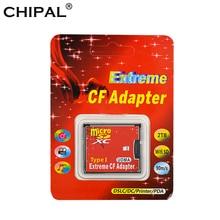 CHIPAL MicroSD SDHC SDXC 컴팩트 플래시 타입 I 메모리 카드 (소매 패키지 포함) 용 CF 어댑터에 고품질의 새로운 마이크로 SD TF