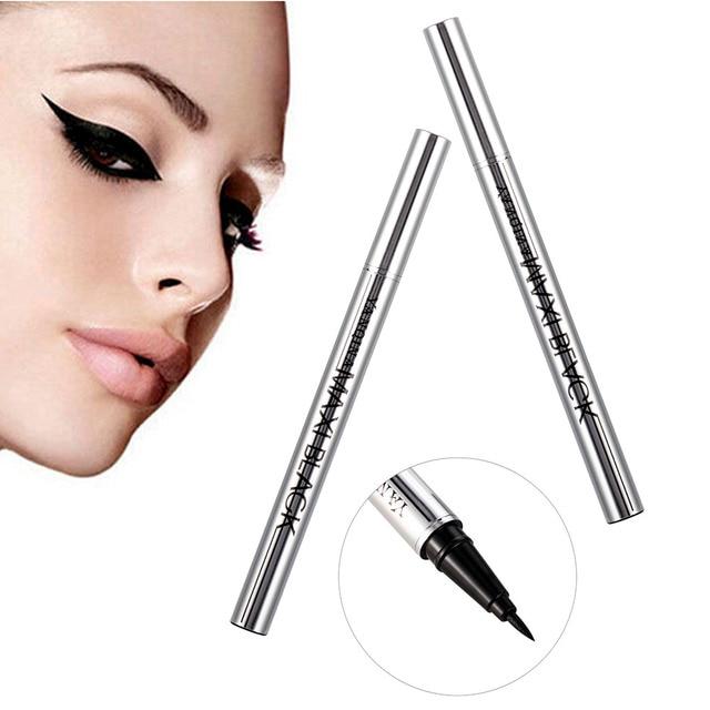 YANQINA Ultimate Black Long Lasting Eye Liner Pencil Waterproof Eyeliner Smudge-Proof Cosmetic Beauty Makeup Liquid Delineador 2