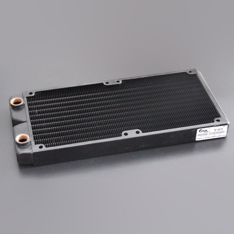 Ke Ruiwo Катюша серии 240 мм полностью красный медный радиатор водяного охлаждения подходит для вентиляторов 120 мм - Цвет лезвия: All black