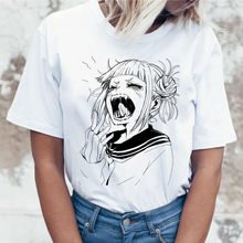 Lus Los Nuova delle donne T-Shirt anime Giapponese Ahegao T-Shirt delle donne. Harajuku Boku No hero T-Shirt divertente Himiko Toga tee(China)
