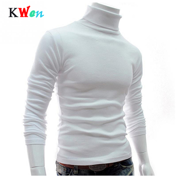 New Men Turtleneck Sweater Long Sleeve Solid Slim Fit Thin Knitted Pullover Mens Basic Style Sweaters Clothing Pullovers