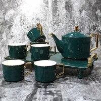 Fonte direta customizável norte europeu estilo phnom penh criativo caneca de café conjunto presente cerâmica estilo europeu vidro café s|Jogos de chá| |  -