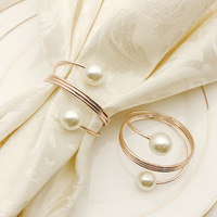 Free Shipping 12pcs Napkin Rings Holder Metal Towel Ring for Hotel Wedding Dinner Parties Everyday Use Table Decoration