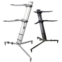 1M Height 2 Layer Aluminum Alloy Digital Piano Frame Rack Music Stand Holder Height Adjustable Lightweight For Piano Performance