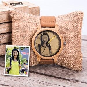 Image 3 - 사용자 정의 시계 개인 사진 인쇄 사용자 정의 커플 시계 남자 여자 크기 나무 선물 상자 아날로그 Relogio Feminino Masculino