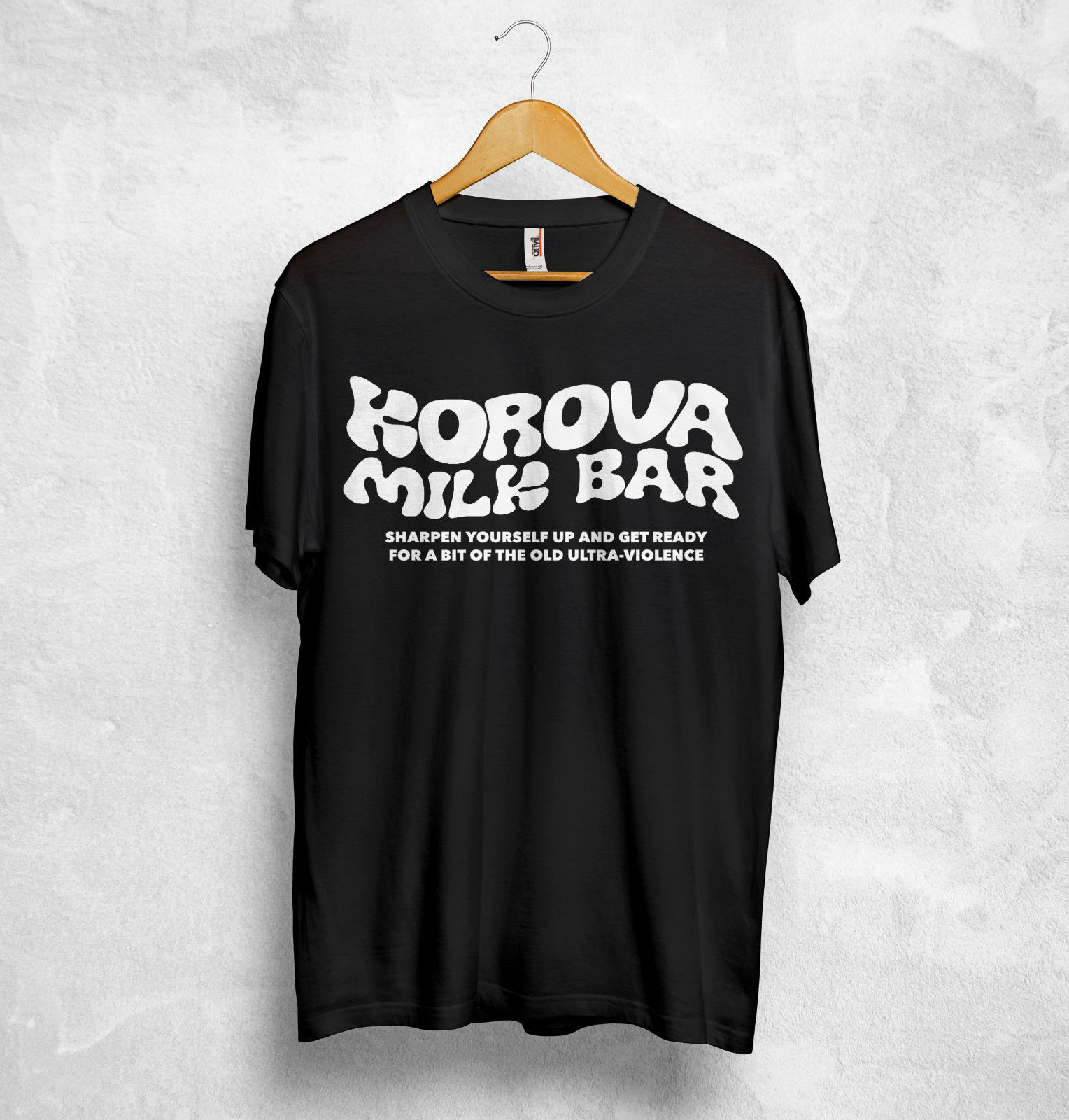 Korova Milk Bar T Shirt A Clockwork Orange Stanley <font><b>Kubrick</b></font> Anthony Burgess Alex image