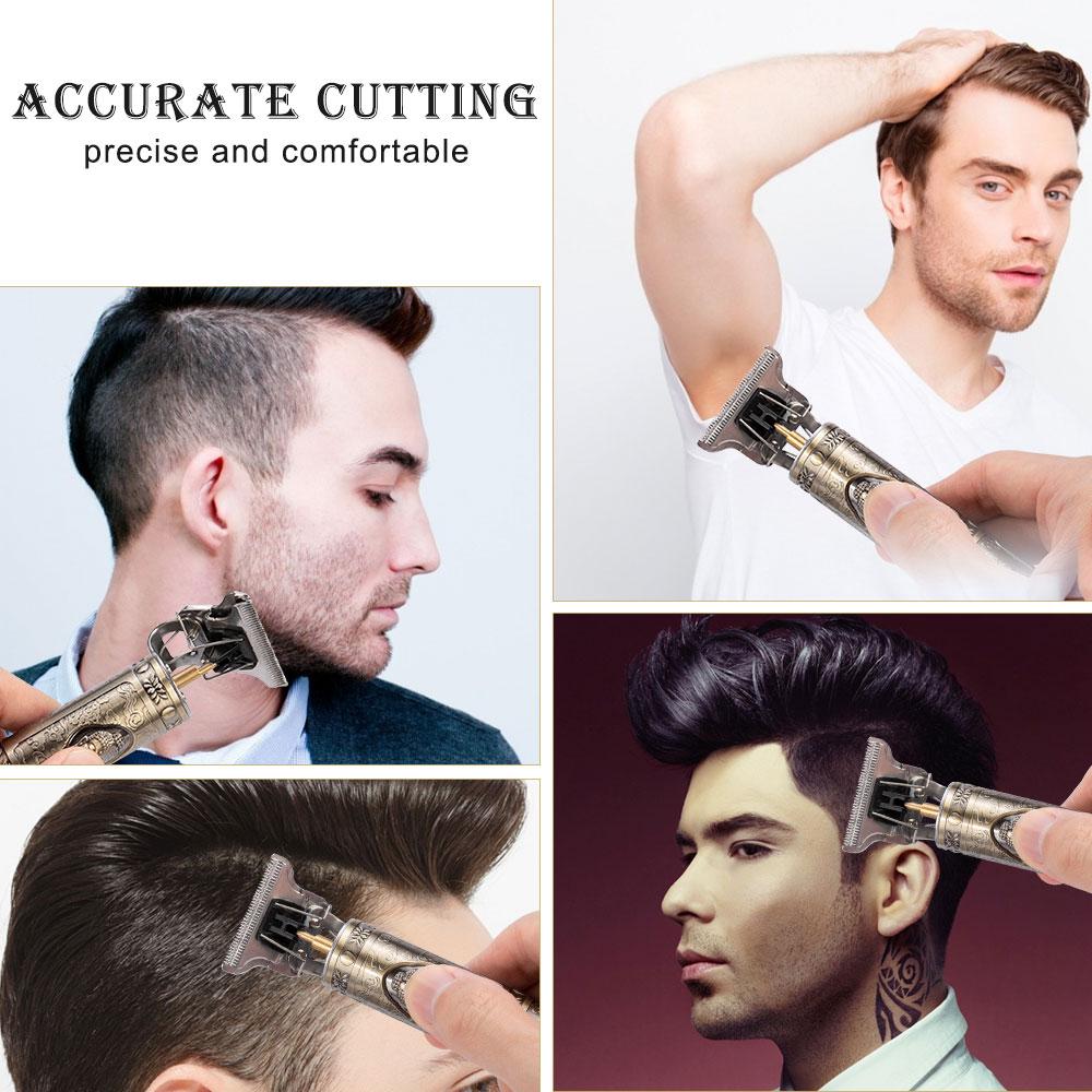 2021 New Hair Trimmer Electric Hair Clipper Professional Shaver Beard Barber 0mm Men Hair Cutting Machine For Men Haircut Style 4